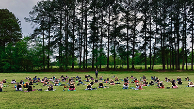 Yoga in the Park in Williams Field