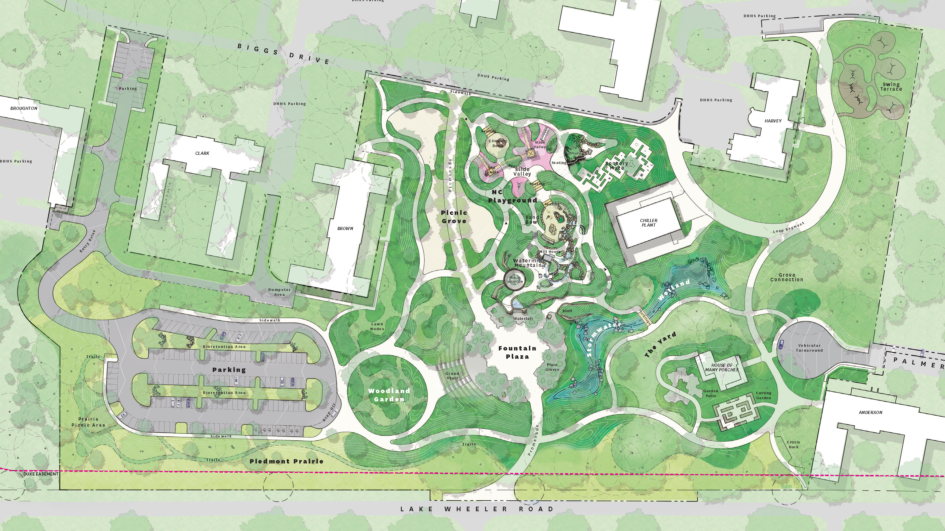 Plaza & Play graphic site plan June 2021