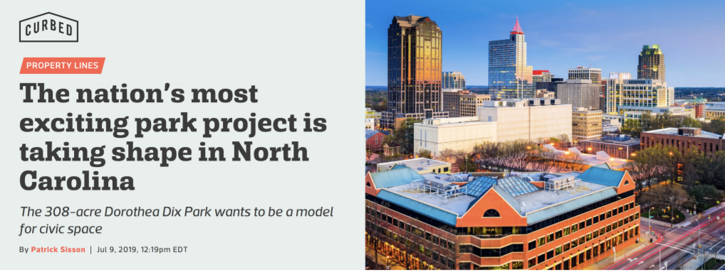 Curbed Article header with title, Curbed logo and image of Raleigh skyline