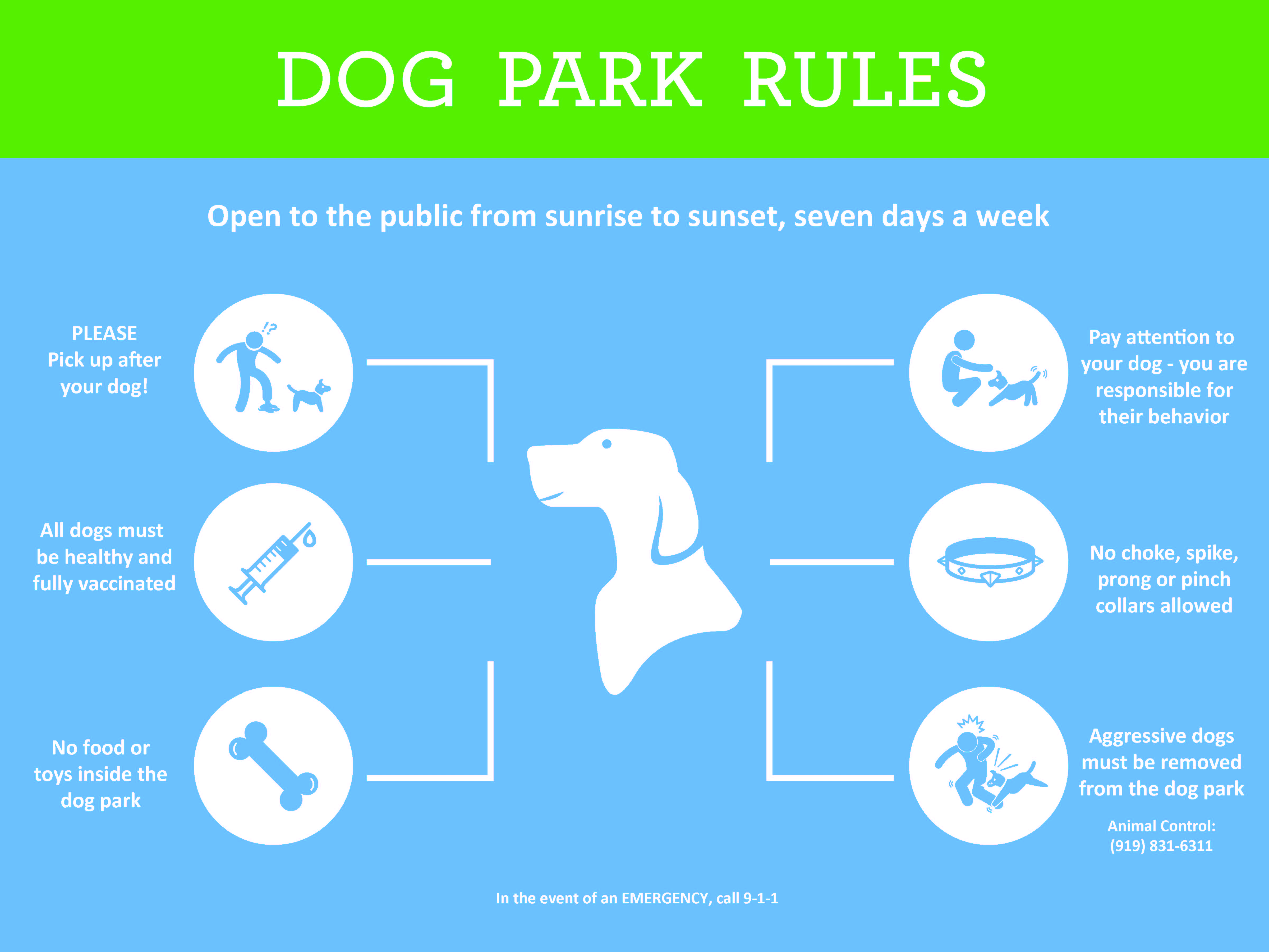 Rules for the Dix Park Dog Park