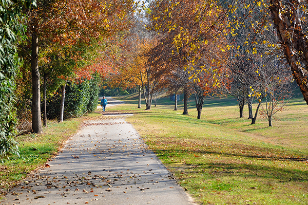The Greenway trail at Dix Park