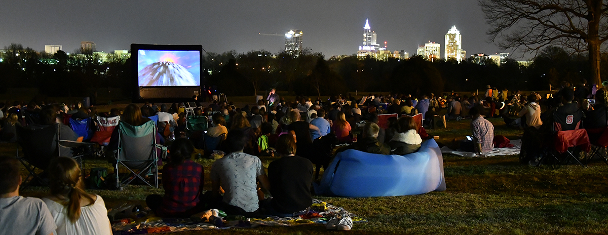 Movie by Moonlight outdoor film series at Dix Park