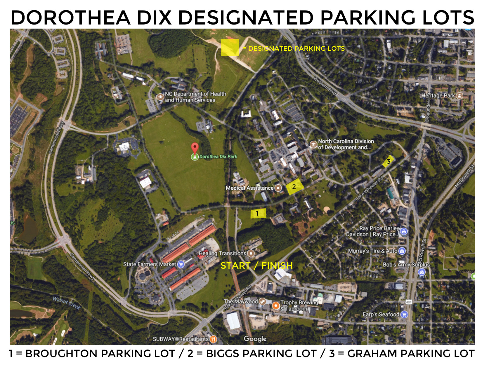 Runologie Race Series Parking Map