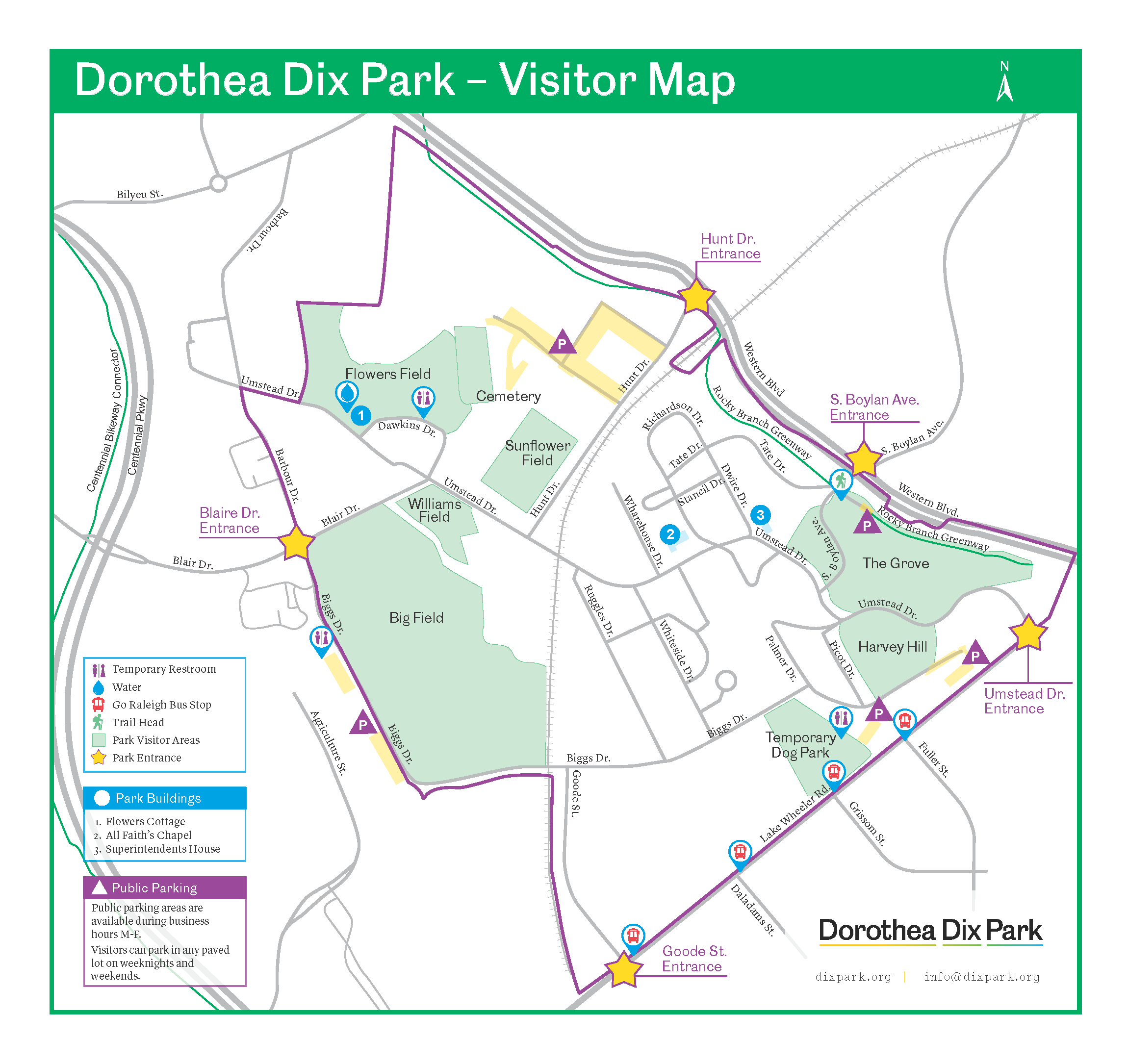 Dix Park Visitor Map