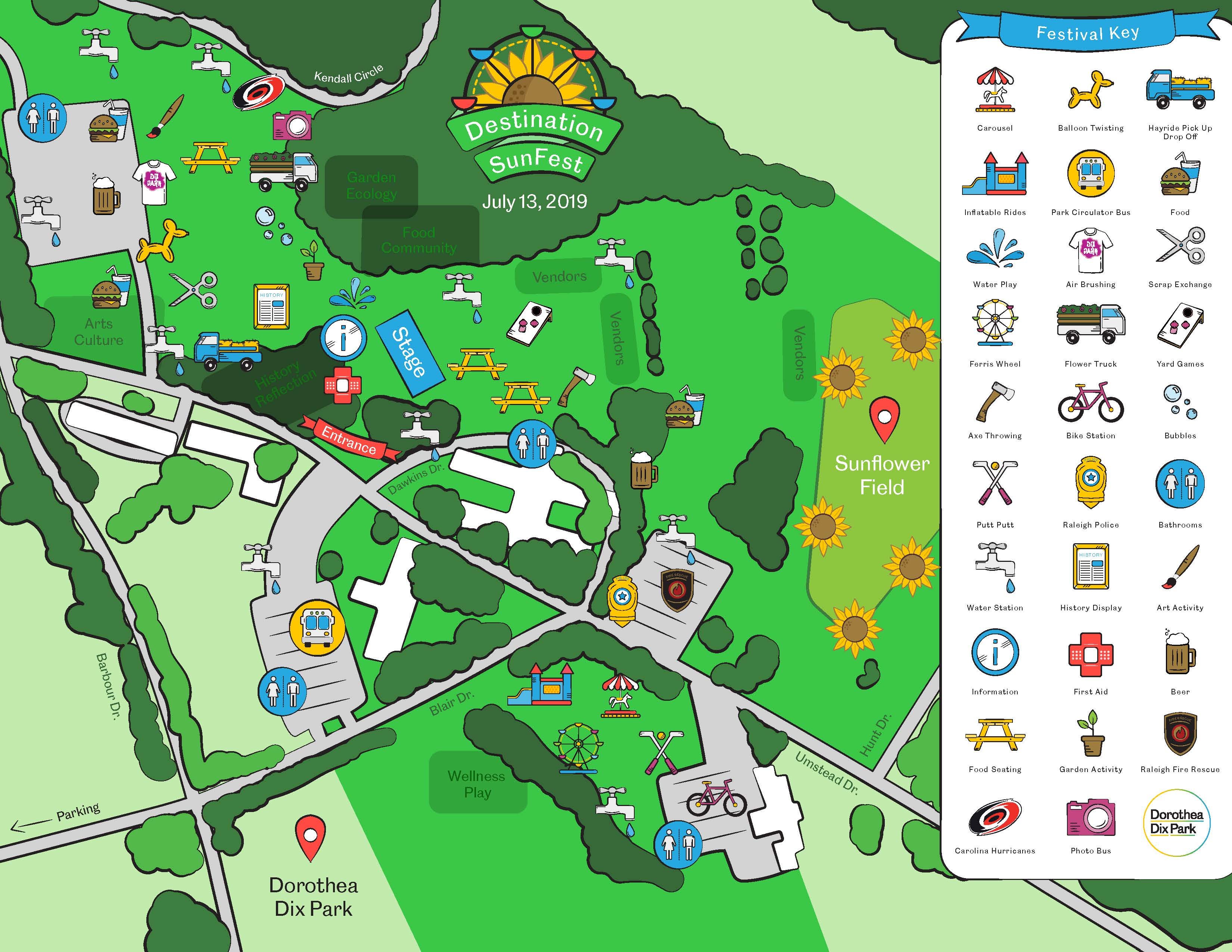 dorothea dix campus map Destination Sunfest Dorothea Dix Park dorothea dix campus map
