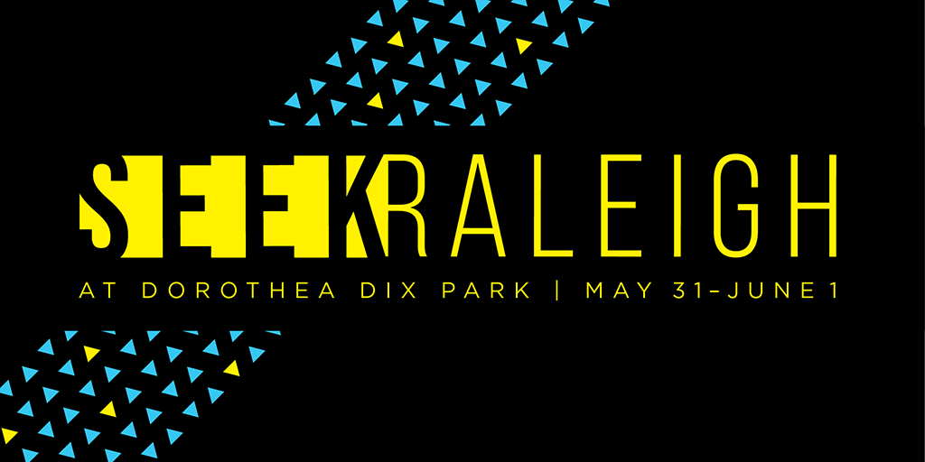 SEEK Raleigh graphic for Dorothea Dix Park with dates May 31 and June 1
